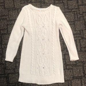 Girls Gymboree Winter White Sweater Dress- Size 4